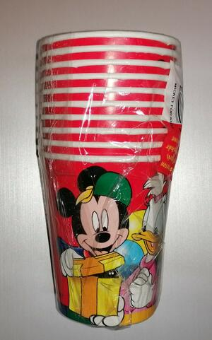 10 BICCHIERI DI CARTA MICKEY FOR KIDS BIBO
