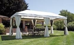 Gazebo in alluminio impermeabile da giardino misura 6 x 3 IDEALE per coperture esterne grandi dimensioni con teli laterali alta qualità  GAZ 063