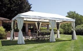 Gazebo professionale con tende rettangolare 3 x 6 gaz 063 for Gazebo 4x3 amazon