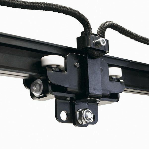 WENTEX EUROTRACK - ROPE CONNECTOR STRAIGHT per Runner, funzionamento intensivo, colore: Nero