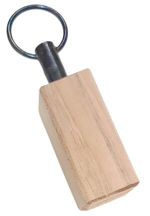 Richiamo tordo in legno di noce con perno conico