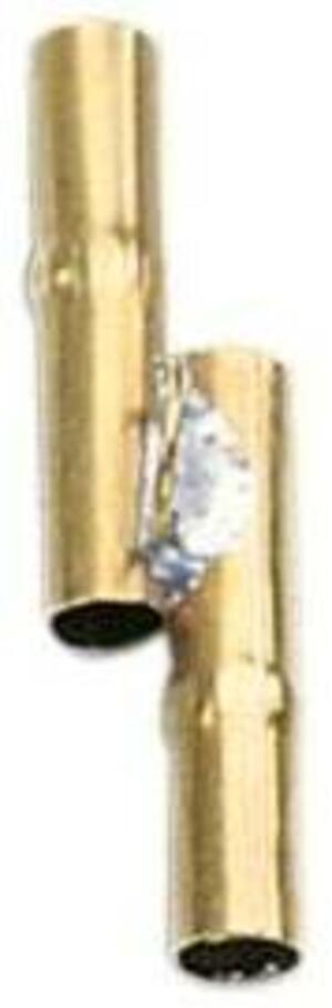 Cannetta in ottone a 2 voci per tordi merli e sasselli
