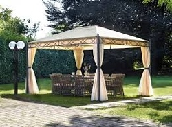 Gazebo professionale rettangolare Gazebo idrorepellente giardino 3x4  completo di tende laterali e zanzariere GAZ372