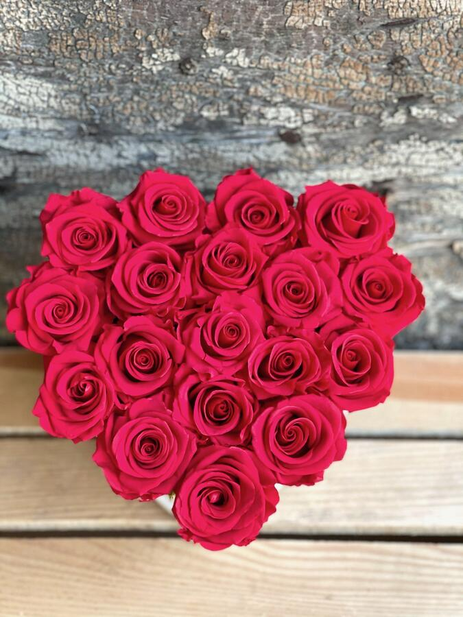 CUORE FLOWER BOX C18 Rossana Collection ROSSO