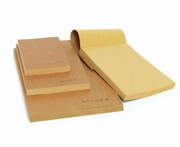 Blocco incollato in carta riciclata nei formati A4, A5, A6 BACK TO NATURE