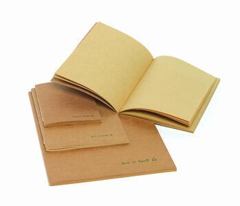Quaderno cucito in carta riciclata nei formati A4, A5, A6 BACK TO NATURE
