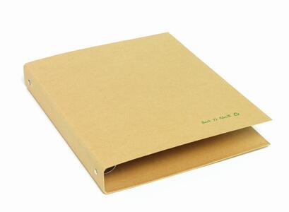Raccoglitore/Cartellina/Quaderno a 4 anelli ø 30 mm in cartone riciclato BACK TO NATURE