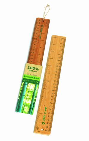 Righello da 30 cm in bamboo BACK TO NATURE