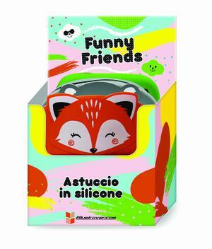 Astuccio FUNNY FRIENDS (Koala-Volpe-Cane) in silicone morbidissimo