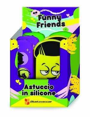 Astuccio FUNNY FRIENDS (Smile-Gatto-Orso) in silicone morbidissimo