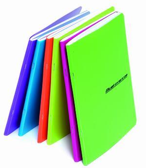 Quaderno spillato copertina in PP FLUO in colori assortiti A5