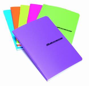 Quaderno spillato copertina in PP FLUO in colori assortiti A6