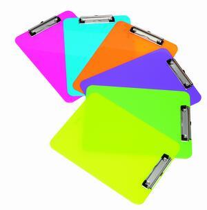 Portablocco con molla in acrilico con colori fluorescenti