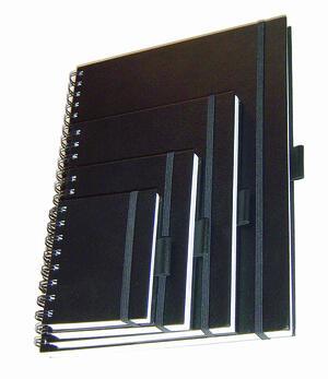 Quaderno spiralato SKETCH DIARY elastico e carta ruvida da 110 gr./mq.