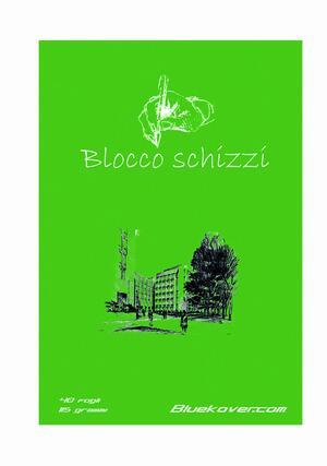 Blocco Notes incollato SCHIZZI con 30 fogli da 120 gr./mq.
