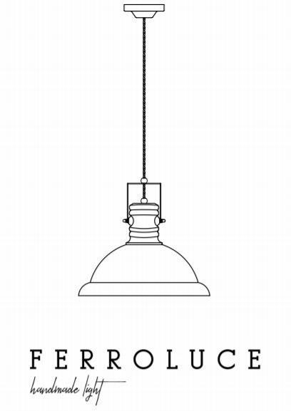 Lampada a Sospensione Industrial C1691 di Ferroluce in Metallo e Ceramica, Varie Finiture - Offerta di Mondo Luce 24