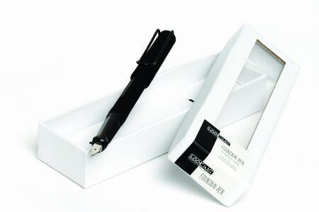 Penna Stilografica in metallo dal design moderno BLACK & WHITE