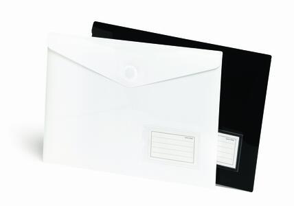 Busta portadocumenti con chiusura a bottone magnetico BLACK & WHITE