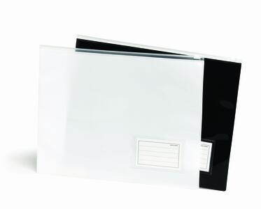 Busta portadocumenti con chiusura zip BLACK & WHITE