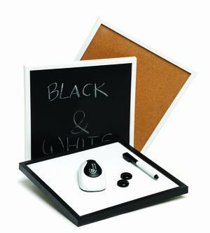 Lavagna magnetica/sughero formato 45 x 60 cm BLACK & WHITE
