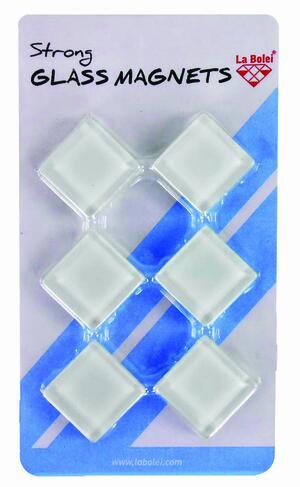 Magneti in vetro extra strong effetto lucido BLACK & WHITE