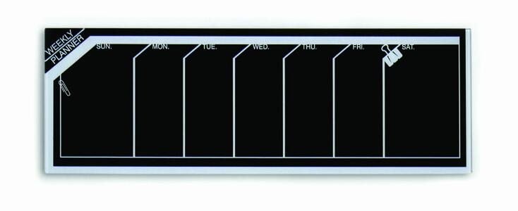 Lavagna planner settimanale 20x60 cm BLACK & WHITE