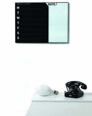 Lavagna planner settimanale 45x60 cm BLACK & WHITE