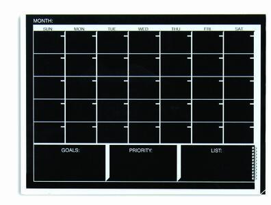Lavagna planner mensile 45x60 cm BLACK & WHITE