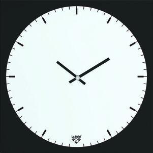 Orologio in vetro magnetico 25x25 cm BLACK & WHITE