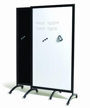 Pannello Separè in vetro con lavagna magnetica e scrivibile BLACK & WHITE