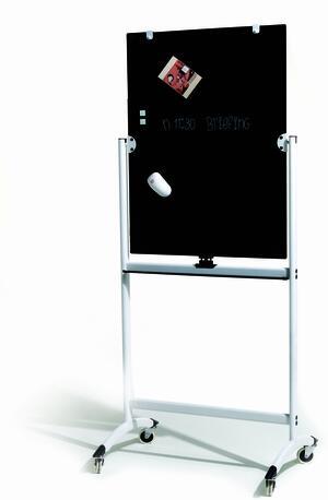 Lavagna per conferenze in vetro doppia faccia BLACK & WHITE