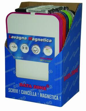Lavagna colorata magnetica con cornice colorata e pennarello nero