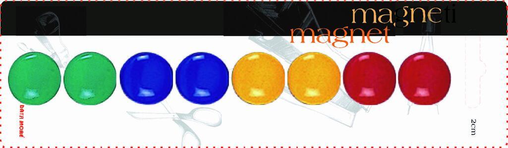 Magneti rotondi colorati ø 20 mm