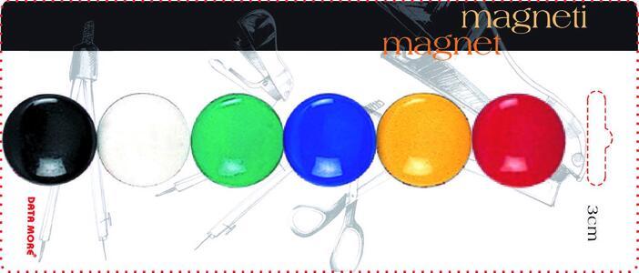 Magneti rotondi colorati ø 30 mm