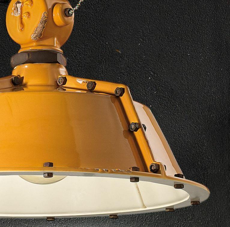 Lampada a Sospensione Industrial C1720 di Ferroluce in Metallo e Ceramica, Varie Finiture - Offerta di Mondo Luce 24