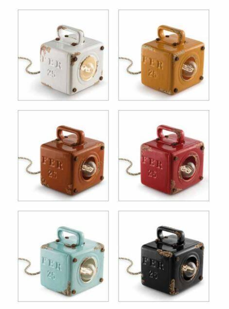 Lampada da Tavolo Industrial C1650 di Ferroluce in Metallo e Ceramica, Varie Finiture - Offerta di Mondo Luce 24
