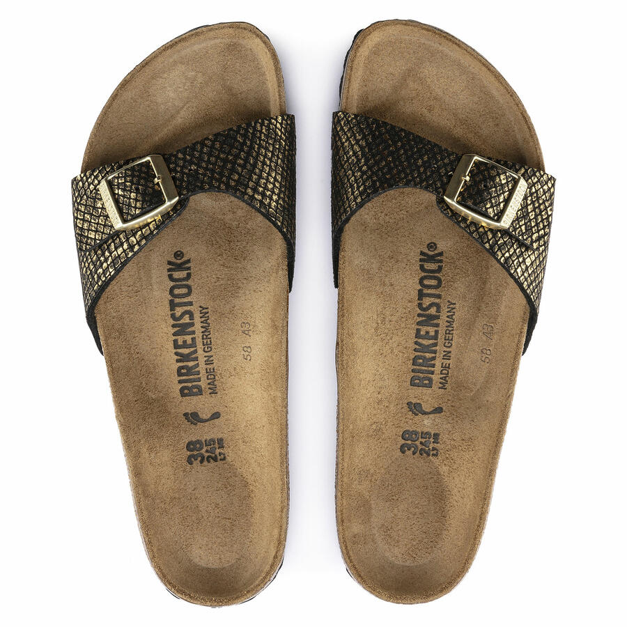 Birkenstock - Madrid - Shiny Python Black