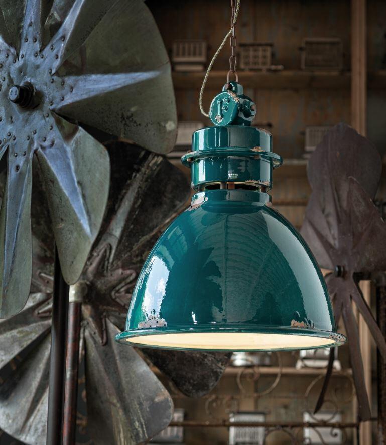 Lampada a Sospensione Industrial C1750 di Ferroluce in Metallo e Ceramica, Varie Finiture - Offerta di Mondo Luce 24