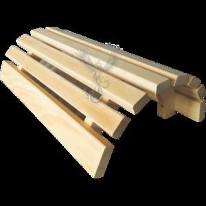 Protezione in legno per lampada