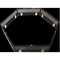 Protezione di sicurezza del tavolo in acciaio per scintille - 6 angoli