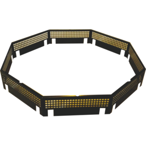 Protezione di sicurezza del tavolo in acciaio per scintille - 8 angoli