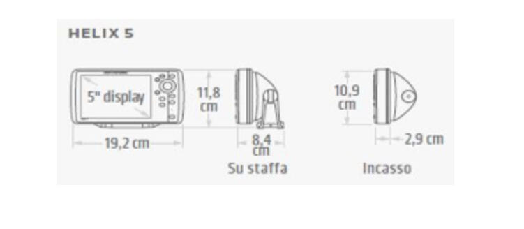 Humminbird Helix 5 Sonar G2 Ecoscandaglio - Sonar: Dual Beam Plus – 500 W (rms) – 83/200 Khz – Fino A 350 Mt (2d) Display Colore - Retroilluminazione Led Cod.jh-h5s-g2 (410190-1)
