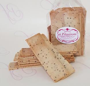 Pilastroni - Crackers Paleo con semi di Chia