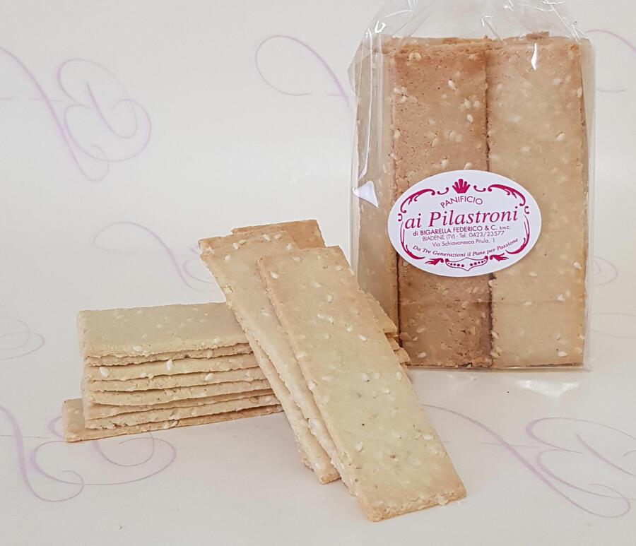 Pilastroni - Crackers Paleo con semi di Sesamo