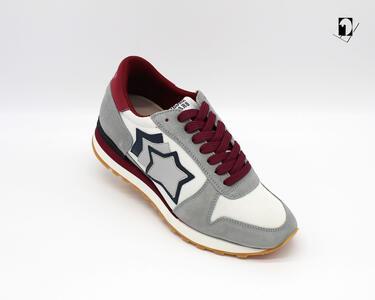 Sneakers Atlantic Stars Argo da Uomo bordeaux e grigio SP_NY-ABRNY