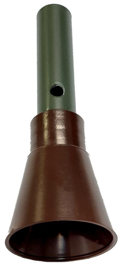 Richiamo alzavola in alluminio verniciato con boccaglio ad imbuto in plastica cm.10