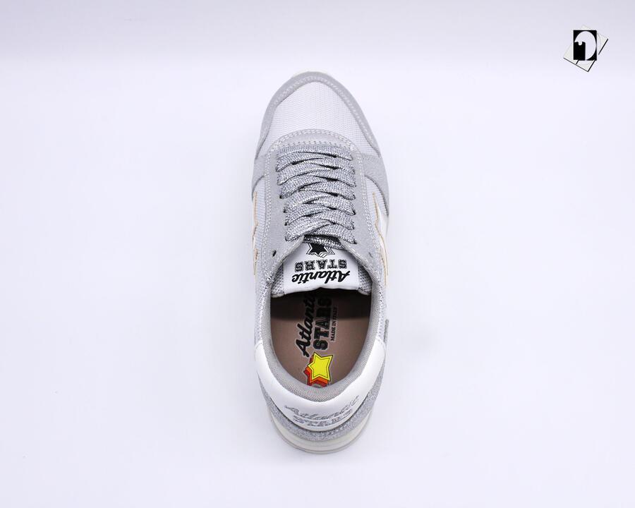 Sneakers Atlantic Stars Alhena da Donna argento e bianco AGNYLGBB