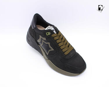 Sneakers Atlantic Stars Mars da Uomo nero e verdone FE-SN20