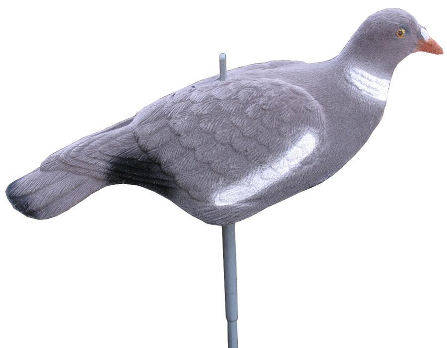 Colombaccio a conchiglia floccato in materiale termoplastico con astina - prezzo confezione da 6 pezzi