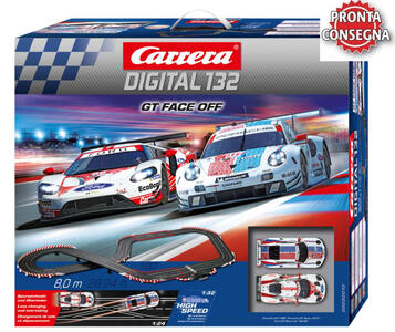 Autopista Elettrica Carrera DIGITAL 132 GT Face Off Porsche 911 RSV vs Ford GT - Offerta